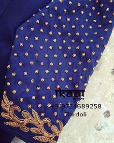185 Likes, 2 Comments - Ikaai Designs (इकाई) ( on Instagr. Hand Work Blouse Design, Simple Blouse Designs, Silk Saree Blouse Designs, Bridal Blouse Designs, Blouse Neck Designs, Sleeve Designs, Hand Work Embroidery, Hand Embroidery Designs, Simple Embroidery