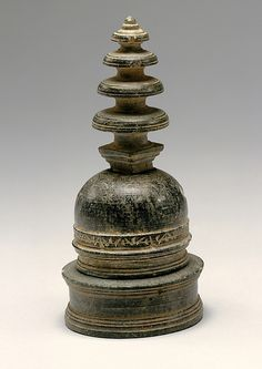 Reliquary in the Shape of a Stupa  Date:ca. 1st century Culture:Pakistan (ancient region of Gandhara) Medium:Schist Dimensions:H. 4 11/16 in. (11.9 cm) Classification:Sculpture