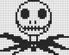 Jack Skellington Perler Bead Pattern / Bead Sprite