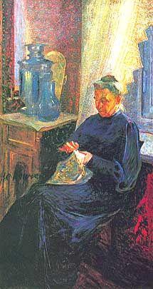 """Umberto Boccioni, """"Ritratto di Mme Sophie Popoff"""", 1906"""