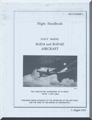 Douglas R-4D-8 R4D-8 Z  Aircraft Flight Handbook   Manual  NAVAIR 01-40NK-1, 1952