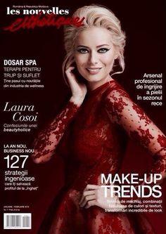 Laura Cosoi sparkling in our Femme 4 dress (L'autre Femme Collection) on the cover of Les Nouvelles Esthetiques.