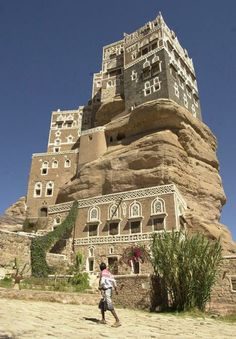 The Rock Palace, Dar Al-Hajar built in the 1930s some 15 kilometers from Yemen's capital Sana'a used to serve as a summer residence of Imam. Today it is one of the main symbols of Yemen.