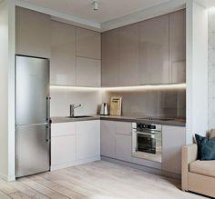 kitchen design inspiration for your beautiful home 00024 - Küche Kitchen Room Design, Condo Kitchen, Modern Kitchen Design, Kitchen Colors, Kitchen Layout, Home Decor Kitchen, Interior Design Kitchen, Home Kitchens, Kitchen Remodel
