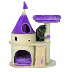 - Designed for kittens and small breed cats - Condo connects to tower via internal crawl space - Removable ring shaped bed can be used separately - 2 Removable cushions are machine washable - Play bla