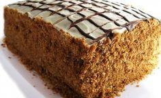 Карамельный наливной медовый торт «Рыжик»