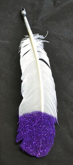 Large Purple Glitter Horse Feather