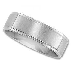 Titanium Squared Black Wedding Band Comfort Fit 7mm Wide Polished Ring Him N Her