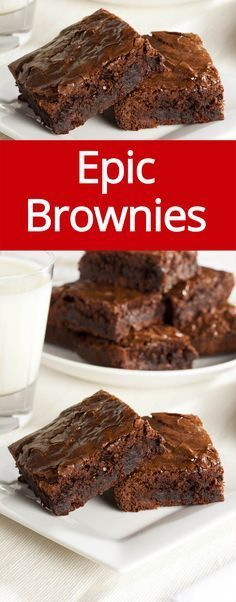 Best Chocolate Brownies Recipe Ever! Super easy to make, this is the last brownie recipe I'll ever need!