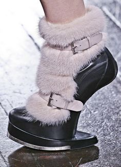 Thank you McQueen for making furry heelless shoes, even after your dead.