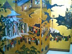 Oriental screen painting at Museu Nacional de Arte Antiga in #Lisbon: http://www.europealacarte.co.uk/blog/2012/05/21/museu-nacional-de-arte-antiga-lisbon/