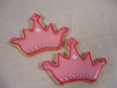 Crown Cookie Crown Cookies, Princess Sophia, Disney Princess Birthday, Cookie Ideas, Decorated Cookies, Cookie Decorating, Desserts, Cookies, Princess