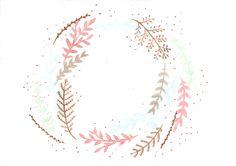 Watercolour Flora wreath