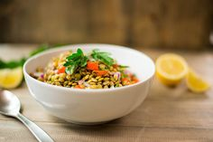 Cold Lentil Salad (lemon, redwine vin, parsley, garl, oil)
