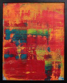 """Koen Lybaert; Oil 2014 Painting """"abstract N° 1007"""""""