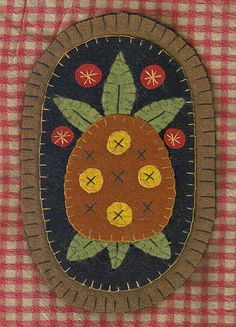 PINEAPPLE PENNY RUG PATTERN Instant Download