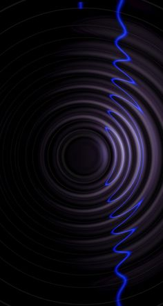 Black and Blue Wavy Wallpaper
