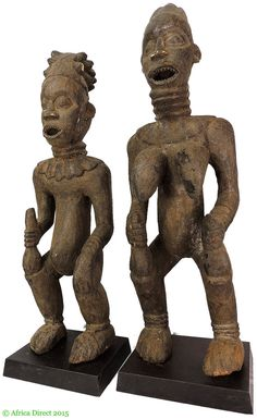Bangwa Couple Cameroon Africa on Stands African Art 100241