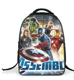 14inch Cartoon Children Bags For Girls Boys Bookbags Cute Batman Ninjago Print School Backpack For Kids Teenagers Softback Aesthetic Appearance Kids & Baby's Bags