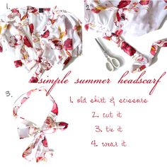 summer headscarf, headscarf tutorial, headscarf diy, make your own summer headscarf, diy headscarf