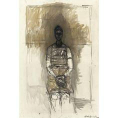 """- Alberto Giacometti , 1901-1966 Portrait de Caroline Oil on canvasPara mí la realidad queda tan virgen como la primera vez que se intentó representarla. Todas las representaciones que se han hecho hasta ahora del mundo han sido meramente parciales"""". A. Giacometti"""