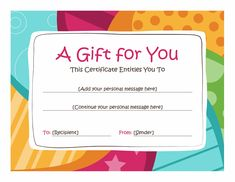Free Certificate Templates For Word These Printable Gift Certificates Make Great Homemade Gift Ideas For .
