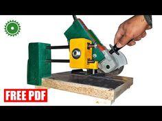 Sliding Angle Grinder Stand - PDF Angle Grinder Stand, Table Saw Sled, Chop Saw, Drilling Tools, Bench Vise, Sheet Metal, Diy, Youtube, Workshop