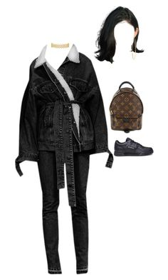 """Seen at the Casco bay"" by nytown ❤ liked on Polyvore featuring Gosha Rubchinskiy, Jennifer Meyer Jewelry and Louis Vuitton"