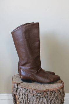 $37.99 -- Brown Leather Riding Boots Size 8 (and the seller is located in Kansas City!)