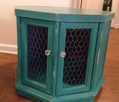 Gorgeous!!! Love the color!! Distressed Octagon Table by ThePastRenewed on Etsy, $75.00