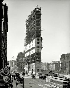 Under construction, Times Square 1903