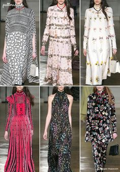 Valentino – Fall 2017 – RTW – Paris Fashion Week – Print & Pattern Highlight | Patternbank