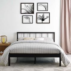 - Info - Colors - Dimensions Immediately energize contemporary decor with the Gerri Full Platform Bed. A must-have piece that makes every style choice harmonious, Gerri eliminates the need for a box spring, and admirably supports mattress types such as me Full Platform Bed, Metal Platform Bed, Full Bed Frame, Bed Frame And Headboard, Simple Bed Frame, White Metal Bed, Black Metal Bed Frame, Queen Metal Bed, Bed Frame Design
