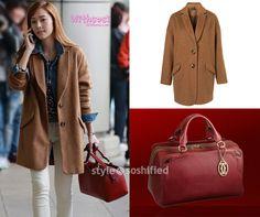 Girls' Generation - Jessica, airport fashion Topshop mohair boyfriend coat Cartier marcello de cartier bowling bag