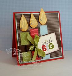 Great use of scrap paper and cardstock...Word Play sentiment stamp...likey!