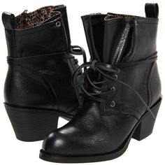 Rocket Dog Raid (Black Lodge PU) Women's Lace-up Boots ($53) ❤ liked on Polyvore featuring shoes, boots, ankle booties, ankle boots, lace up platform bootie, black platform booties, faux suede lace-up booties, lace up platform booties and lace up booties