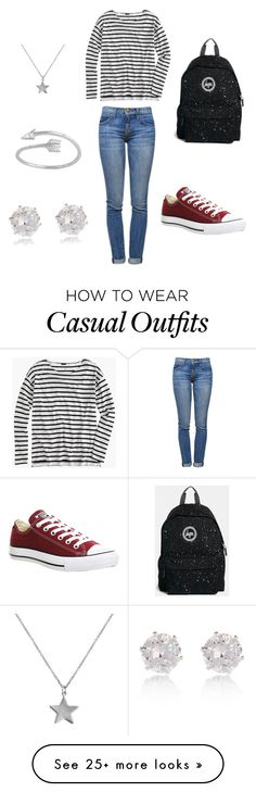 """Casual every-day look"" by luisameatsix on Polyvore featuring Current/Elliott, J.Crew, Converse, Hype, River Island and Belcho"