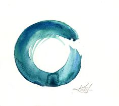 Enso Serenity No. 1 by Kathy Morton Stanion #kathymortonstanion #floralart #watercolor #homedecor