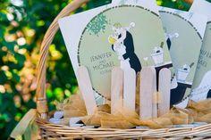 Wedding Programme Fans  | Jenny Bright Photography: http://jennybright.com