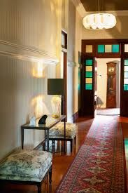 Entryway in old Queenslander Tongue And Groove Walls, Leadlight Windows, Timber Structure, Queenslander, Timber Flooring, Painted Doors, House And Home Magazine, Exterior Colors, Decoration