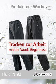 Einfach überziehen und schon hat der Regen keine Chance! Mit dieser Hose kommst du überall trocken an.  Jetzt kaufen: http://www.rucksack.de/marken/vaude/12551/vaude-mens-fluid-pants-ii