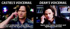 Cas and Dean's Voicemails