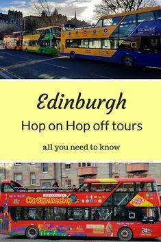 Edinburgh hop on hop off buses