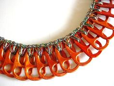 Orange Necklace and Earring Set by Pop Top Lady, via Flickr