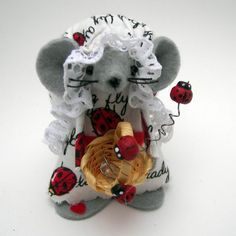 LadyBug Mouse one of the sweet felt mice by Warmth by Warmth, $15.00
