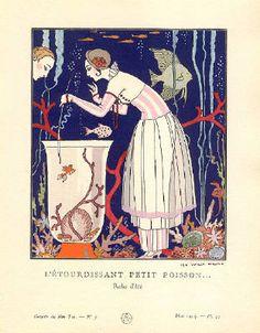 George Barbier's artwork titled L'Etourdissant Petit Poisson... presented by Artophile