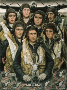 Stella Bowen was an Australian War Artist during WW2. She most famously depicts WWII images of Lancaster bombers and crews.