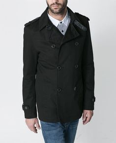 Image 1 of SHORT COTTON TRENCH COAT from Zara