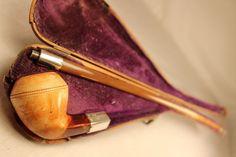 Rare 1882 Barling E.B W.B Churchwarden Meerschaum Silver Bone Estate Pipe London | eBay