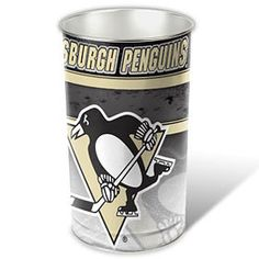 "Pittsburgh Penguins 15"" Waste Basket, starting at  $24.95 at MySportsDecor.com. Great for your bedroom, a kid's bedroom, or a dorm room. http://www.mysportsdecor.com/pittsburgh-penguins-waste-basket.html.... #pittsburghpenguins #pittsburghpenguinsmerchandise #pittsburghpenguinstrashcan"